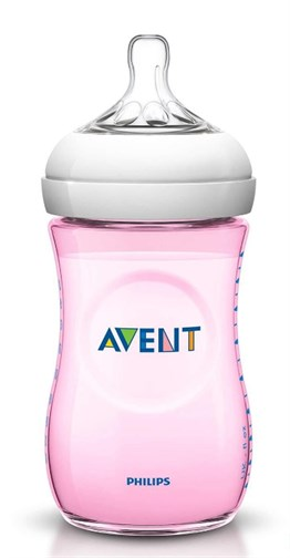 Philips Avent SCF694/17 Natural PP Biberon Tekli 260 ml Pembe